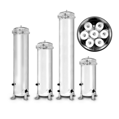 pressurized stainless steel filter housing